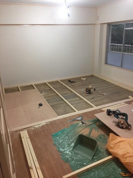 床下地 施工状況
