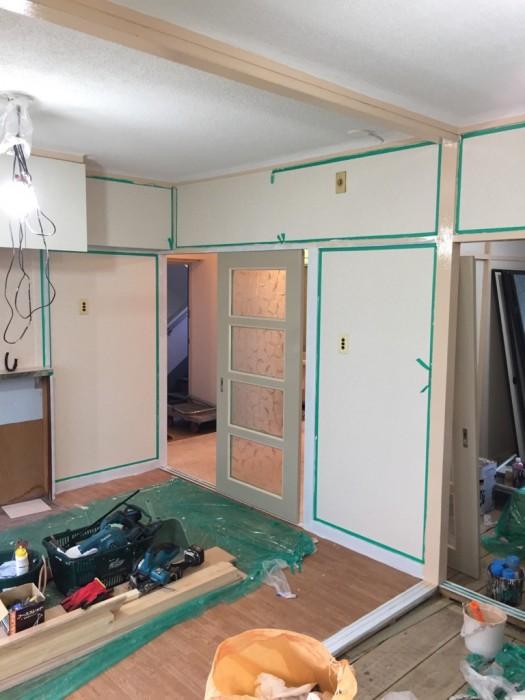 内装塗装 施工状況